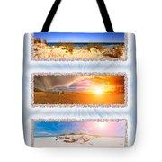Anna Maria Island Beach Collage Tote Bag