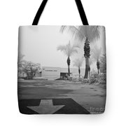 Anna Maria Island Branch Library In Fog Infrared 50 Tote Bag