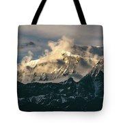 Annapurna Mountain Range In Evening Sunlight Tote Bag