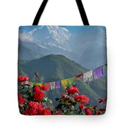 Annapurnas And Prayer Flags Tote Bag