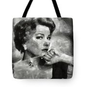Anne Baxter Vintage Hollywood Actress Tote Bag