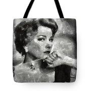 Anne Baxter Vintage Hollywood Actress Tote Bag