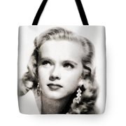 Anne Francis, Vintage Actress By John Springfield Tote Bag