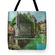 Annecy-the Venice Of France Tote Bag