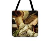 Announcing Angel, Detail From Annunciation Tote Bag