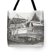 Annual Haul Out Chris Craft Yacht Tote Bag