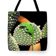 Anole Hanging Out With Cactus Tote Bag