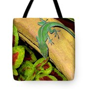 Anole Having A Drink Tote Bag