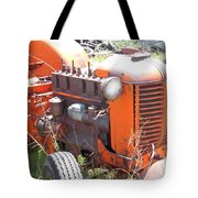 Another Angle Of Old Tractor Tote Bag