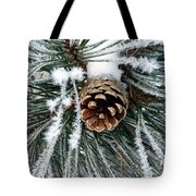 Another Frosty Pine Cone Tote Bag