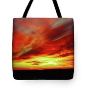 Another Illinois Sunset Tote Bag