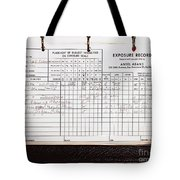 Ansel Adams Photography Exposure Record Log Tote Bag