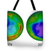 Antarctic Ozone Hole, 1979 And 2015 Tote Bag