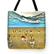 Antelope At Attention Tote Bag