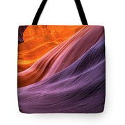 Antelope Rainbow Color Wave  Tote Bag