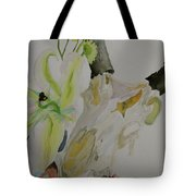 Antelope Skull Pinecones And Lily Tote Bag