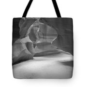 Antelope Slot Canyon Black And White Tote Bag