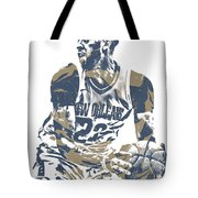 Anthony Davis New Orleans Pelicans Pixel Art 21 Tote Bag