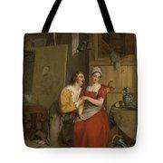 Anthony Van Dyck Wooing His Model, 1827 Tote Bag