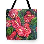 Anthurium Flowers Tote Bag