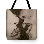 Anticipation Of A Kiss Tote Bag