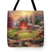 Anticipation Of The Day Ahead Tote Bag