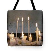 Antigua Church Candles Tote Bag