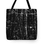 Antiproton Display, Bubble Chamber Event Tote Bag