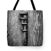 Antique Adjustable Wrench Bw Tote Bag