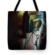 Antique Brass Doorknob Tote Bag