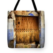 Antique Brown Door Tote Bag