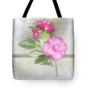 Antique Camellias Square Tote Bag