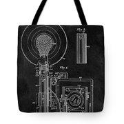 Antique Camera Flash Patent Tote Bag