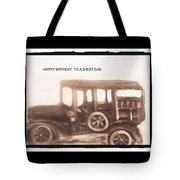 Antique Car For Dads Day Tote Bag