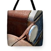 Antique Car Headlamp 2 Tote Bag by Douglas Barnett
