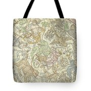Antique Celestial Map Tote Bag