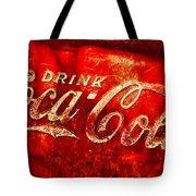 Antique Coca-cola Cooler Tote Bag
