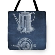 Antique Coffee Pot Patent Tote Bag