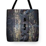 Antique Door Lock Detail Tote Bag