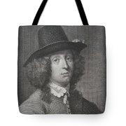 Antique Engraving Of An Elegant Gentleman Tote Bag