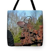 Antique Farmall Tractor 4a Tote Bag