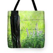 Antique Fence Post Tote Bag