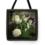 Antique Floral Arrangement Framed Tote Bag