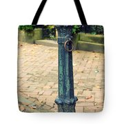 Antique Hitching Post Tote Bag