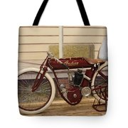 Antique Indian Motorcycle Red...   # Tote Bag