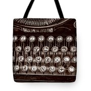 Antique Keyboard - Sepia Tote Bag