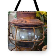 Antique Lantern Tote Bag