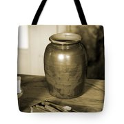 Antique Laundry And Clothes Pins In Sepia Photograph Tote Bag