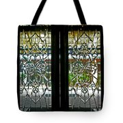 Antique Lead Glass Doors Tote Bag