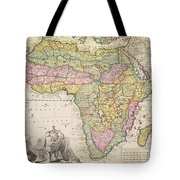Antique Map Of Africa Tote Bag by Pieter Schenk